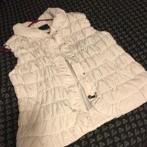 Gorgeous white puffy vest